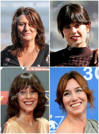 A composite picture from 13 December 2017 shows nominees for the Goya Award for Best Supporting Actress (L-R, Up-down) Adelfa Calvo, Anna Castillo, Belen Cuesta and Lola Duenas. The Goya Awards ceremony will be held next 03 February 2017.