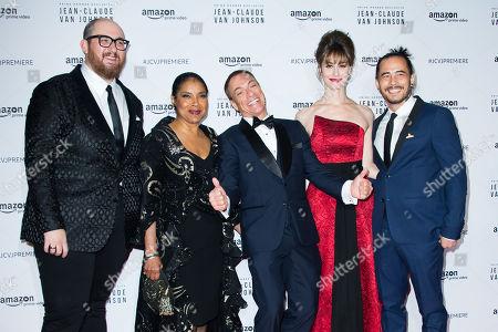 Peter Atencio, Phylicia Rashad, Jean-Claude Van Damme, Kat Foster and David Callaham