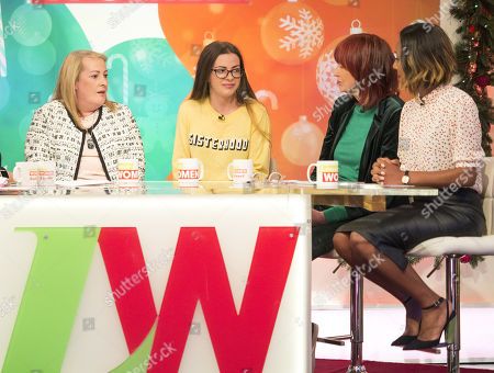 Lyn Rigby and Courtney Rigby, Janet Street-Porter and Kelli Young