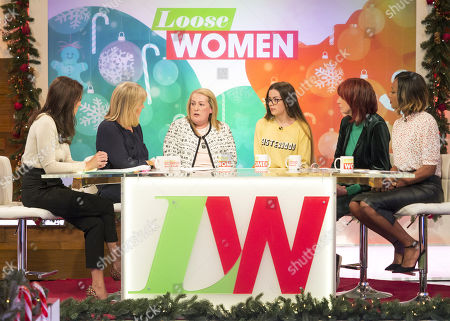 Andrea McLean, Linda Robson, Lyn Rigby and Courtney Rigby, Janet Street-Porter and Kelli Young