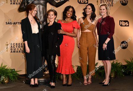 Elizabeth McLaughlin, Gabrielle Carteris, Niecy Nash, Olivia Munn and JoBeth Williams