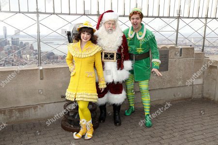 George Wendt as Santa Claus with Jovie and Buddy the Elf