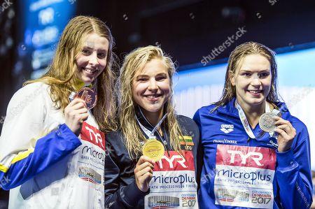 Ruta Meilutyte, Jenna Laukkanen and Sophie Hansson