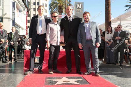 Tom Rothman, Chairman of Sony Pictures Entertainment's Motion Picture Group, Jake Kasdan, Writer/Director, Dwayne Johnson and Jack Black