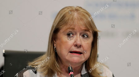 World Trade Organization Conference President Susana Malcorra talks during the closing ceremony of the WTO ministerial conference in Buenos Aires, Argentina