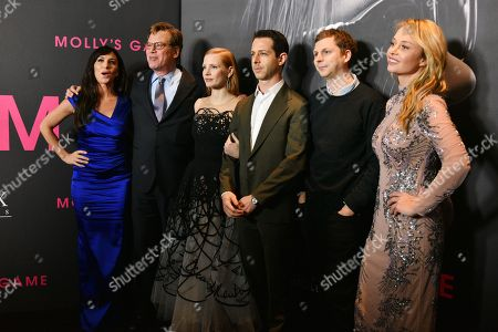 Molly Bloom, Aaron Sorkin, Jessica Chastain, Jeremy Strong, Michael Cera