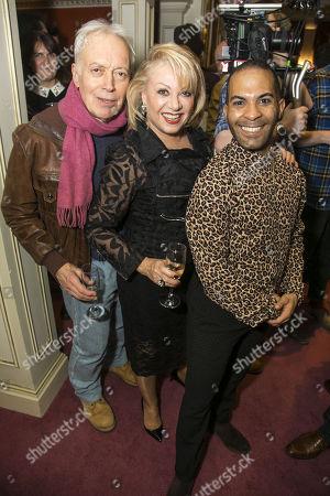 Nickolas Grace, Elaine Paige (Queen Rat) and Lukus Alexander (Eileen the Cat)