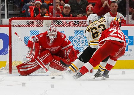 Editorial photo of Bruins Red Wings Hockey, Detroit, USA - 13 Dec 2017
