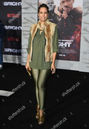 "Stock Image of Daphne Wayans arrives at the U.S. premiere of ""Bright"" at the Regency Village Theatre, in Los Angeles"