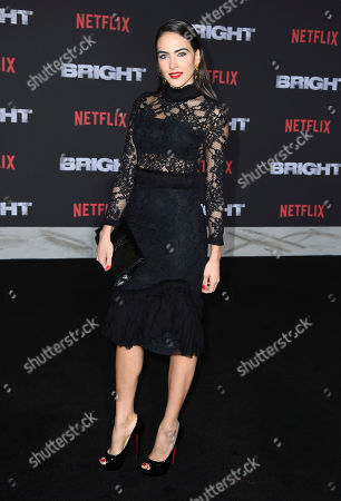 "Daniela Botero arrives at the U.S. premiere of ""Bright"" at the Regency Village Theatre, in Los Angeles"