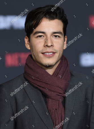"""Manolo Gonzalez-Ripoll Vergara arrives at the U.S. premiere of """"Bright"""" at the Regency Village Theatre, in Los Angeles"""