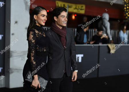 "Manolo Gonzalez-Ripoll Vergara, Daniela Botero. Manolo Gonzalez-Ripoll Vergara, right, and Daniela Botero arrive at the U.S. premiere of ""Bright"" at the Regency Village Theatre, in Los Angeles"
