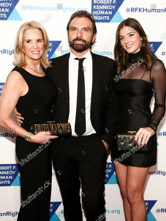 Kerry Kennedy, Olivier Bernoux, Michaela Cuomo. Kerry Kennedy, from left, Olivier Bernoux and Michaela Cuomo attend the 2017 Ripple of Hope Awards at the New York Hilton, in New York