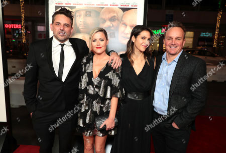 Stock Picture of Chris Cowles, executive producer, Kathleen Robertson, guest and Chris Fenton, executive producer