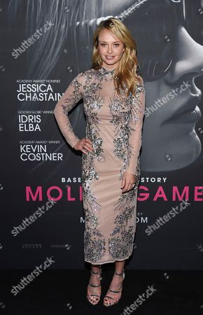 """Madison McKinley attends the premiere of """"Molly's Game"""" at AMC Loews Lincoln Square, in New York"""