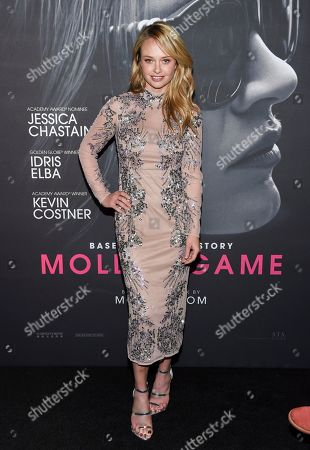 """Actress Madison McKinley attends the premiere of """"Molly's Game"""" at AMC Loews Lincoln Square, in New York"""