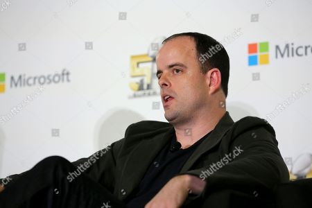 Microsoft VP Mike Nichols is seen during the Microsoft Tech Panel, in San Francisco