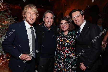 Owen Wilson, Ivan Reitman, producer, Ali Bell, producer, and Ed Helms