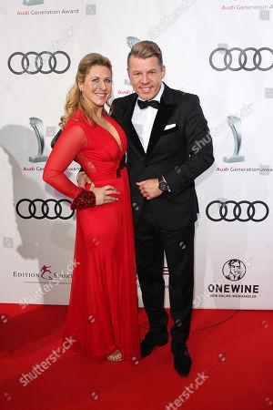 Axel Kahn with partner Sarah Kaeckel,