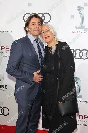 Dieter Landuris with wife Natascha,
