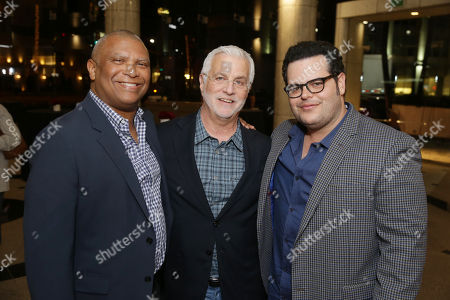 Reginald Hudlin, director/producer, Rob Friedman, Chairman & CEO of TMP Entertainment, and Josh Gad