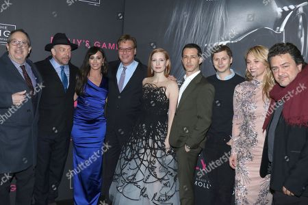 Mark Gordon (Producer), Bill Camp, Molly Bloom, Aaron Sorkin (Director, Screenwriter), Jessica Chastain, Jeremy Strong, Michael Cera, Madison McKinley and Leopoldo Gout