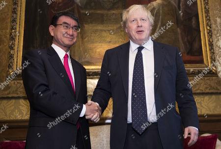 Boris Johnson and Taro Kano