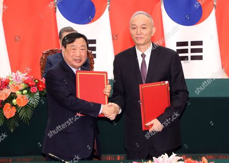 Editorial image of China and South Korea sign Olympic cooperation, Beijing - 14 Dec 2017