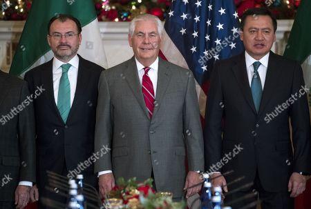 Rex Tillerson, Luis Videgaray and Miguel Angel Osorio Chong