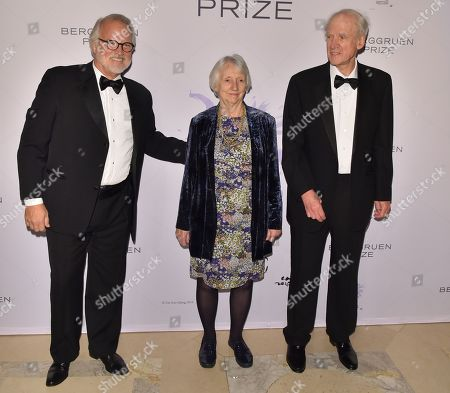 Stock Photo of Craig Calhoun, Baroness Onora O'Neill and Charles Taylor