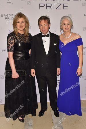 Arianna Huffington, Nicolas Berggruen and Dawn Nakagawa