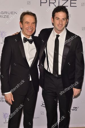 Stock Image of Jeff Koons and Jared Cohen