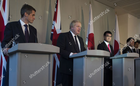 Gavin Williamson, Boris Johnson and Taro Kano
