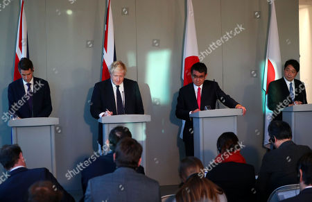 Editorial photo of Press conference for the Third UK-Japan Foreign and Defence Ministerial Meeting, London, United Kingdom - 14 Dec 2017