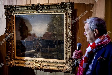 The oil painting 'Watermill at Kollen (1884) by Dutch painter Vincent van Gogh (1853-1890)  is being presented to the press at The Noordbrabants Museum in Den Bosch, The Netherlands, 14 December 2017. The painting was purchased for almost 3 million euros (hammer price 2,6 million dollars). The museum will open its doors on 16 December to present the painting to the public.
