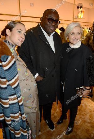 Delfina Delettrez Fendi, Edward Enninful and Silvia Venturini Fendi