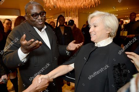 Edward Enninful and Silvia Venturini Fendi