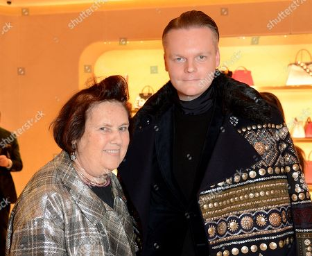 Suzy Menkes and Anders Christian Madsen
