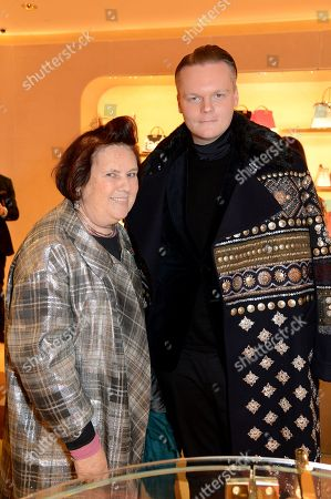 Stock Photo of Suzy Menkes and Anders Christian Madsen