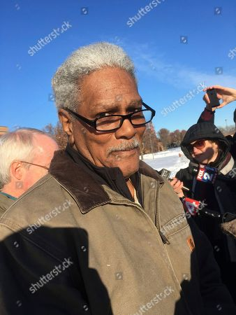 Richard Phillips is seen outside a Wayne County jail, in Detroit after being released after 45 years in prison. Phillips was released while prosecutors appeal a decision that granted him a new trial in a 1971 murder. Phillips has long declared his innocence in the fatal shooting of Gregory Harris. He was convicted largely on the testimony of a trial witness who's now dead. Phillips' big break occurred in 2014 when the Innocence Clinic at University of Michigan law school learned that another man said Phillips had absolutely no role