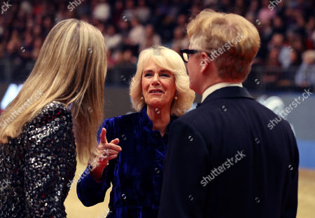 Stock Picture of Camilla Duchess of Cornwall speaks to eventer Kristina Cook