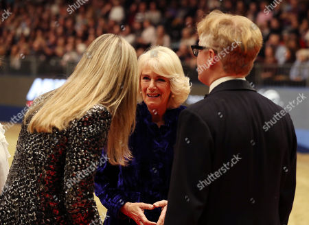 Camilla Duchess of Cornwall speaks to eventer Kristina Cook