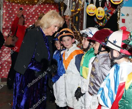 Camilla Duchess of Cornwall meets Rocco Dettori