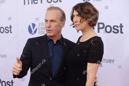 Stock Picture of Bob Odenkirk and Naomi Odenkirk