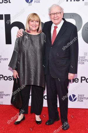 Stock Image of Susan Buffett and Warren Buffett