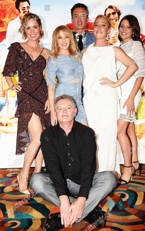 Stephen Elliott with Radha Mitchell, Kylie Minogue, Asher Keddie, Chelsea Glaw and Julian McMahon