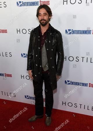 "Ryan Bingham arrives at the premiere of ""Hostiles"" at the Samuel Goldwyn Theater, in Beverly Hills, Calif"