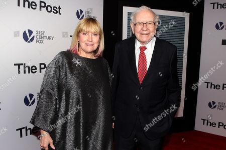Stock Photo of Susan Buffett and Warren Buffett