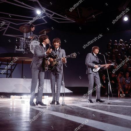The Beatles - Jimmy Nicol, Paul McCartney, George Harrison and John Lennon