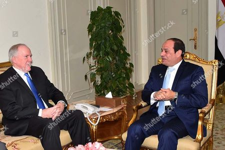 Abdel-Fattah el-Sissi, John O. Brennan. In this photo provided by Egypt's state news agency, MENA, the Director of the Central Intelligence Agency, John O. Brennan, left, meets with Egyptian President Abdel-Fattah el-Sissi, in Cairo, Egypt